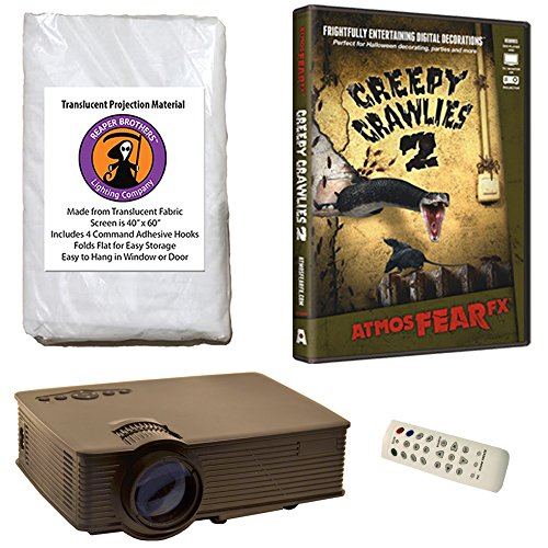 Halloween Digital Decoration Kit includes 1900 Lumen Projector, 60