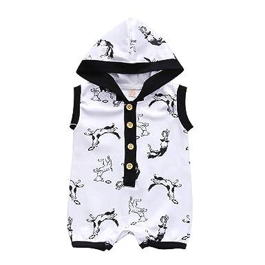 Newborn Infant Baby Outfit Boy Girl Cartoon Bodysuit Romper Jumpsuit Clothes Lot