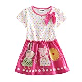 [IGO.]Peppa Pig cartoon baby girls skirt cotton dress NP127_2/3y Pink
