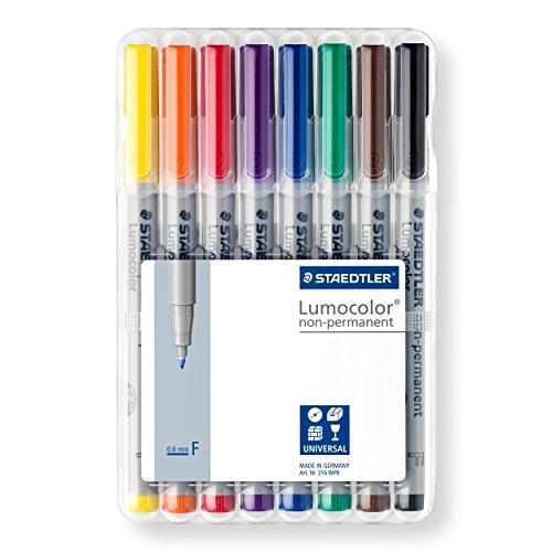 Lumocolor Watersoluble Marker Fine Set 8 Photo #7