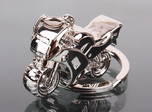 Men's Gift Motorcycle design Pendant Charm Key Chain Fob Ring solid alloy