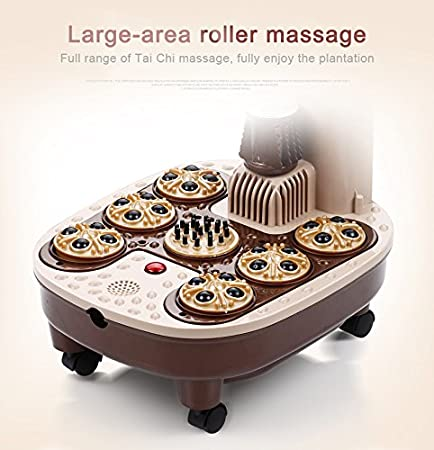 Amazon.com: agoods care shiatsu massage feet bath automatic electric roller surfing heat foot massage basin water temperture adjustable mobile wheel foot ...