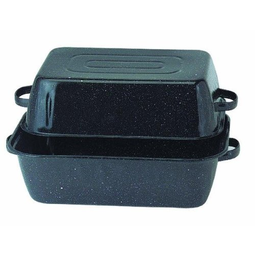 Enamel Roaster Pan (Columbian Home Prod. 0511-1 Covered Rectangle Roaster)