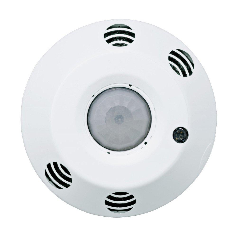 Leviton ODC10-MDW ODC Series 1000 Sq. Ft. Multi-Technology Ceiling-Mount Occupancy Sensor, 120-277 Volt, White