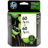 HP 60 Tri-color Original Ink Cartridges, 2 pack (CZ072FN)