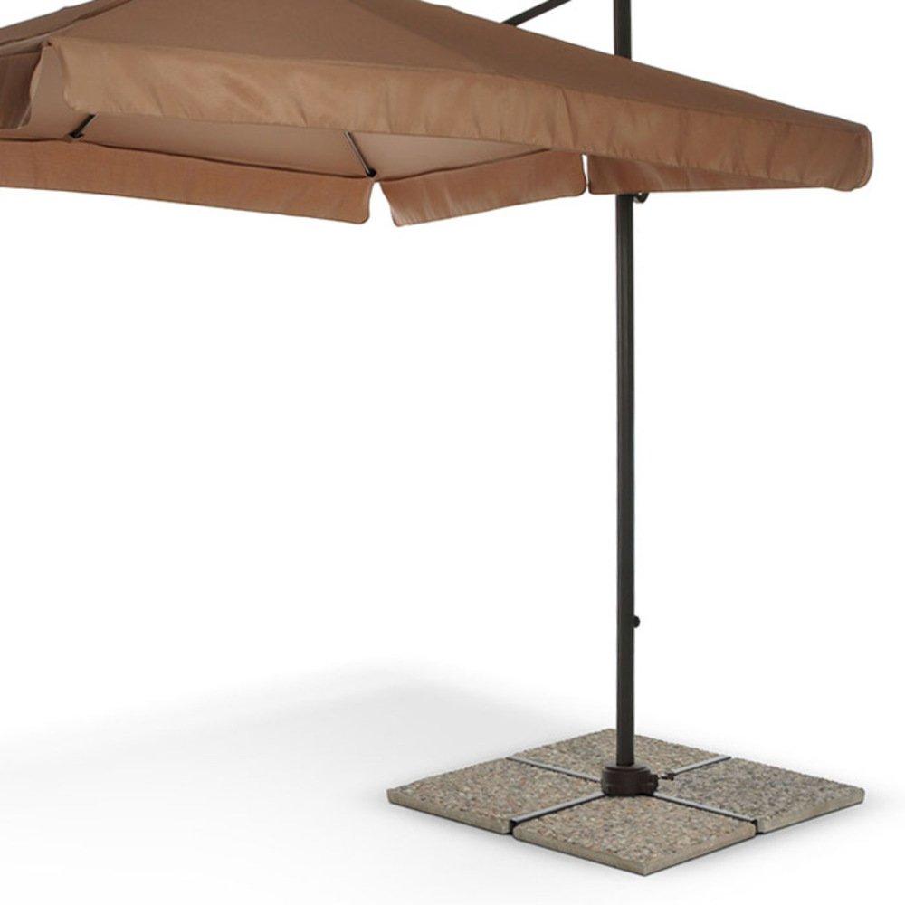 Colore Grigio VERDELOOK Piastra in graniglia per Sostegno ombrellone Misure 50x50x3,5 cm
