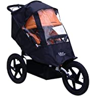 Tike Tech Single All Terrain X3 Sport All Season Stroller Cover, Black Clear