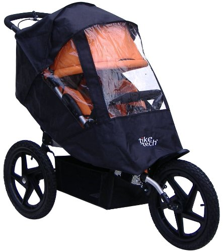 Tike Tech Single All Terrain X3 Sport All Season Stroller Cover, Black/Clear, Baby & Kids Zone