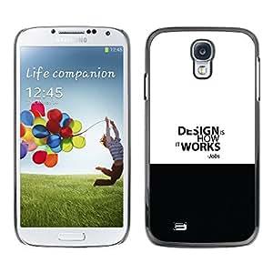ROKK CASES / Samsung Galaxy S4 I9500 / DESIGN WORK - JOBS QUOTE / Delgado Negro Plástico caso cubierta Shell Armor Funda Case Cover