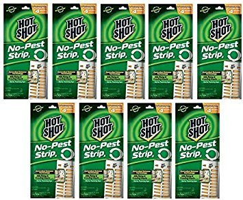 Hot Shot No-Pest Strip 2, Controlled Release Technology Kills Flying and Crawling Insects 2.29 Ounce ( Value Pack of 9)