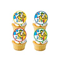 24 x BBC Children in Need Pudsey Bear Spots Bake Off Cake Sale Stand UP Standup Fairy Muffin Cup Cake Toppers Decoration Edible Rice Wafer Paper