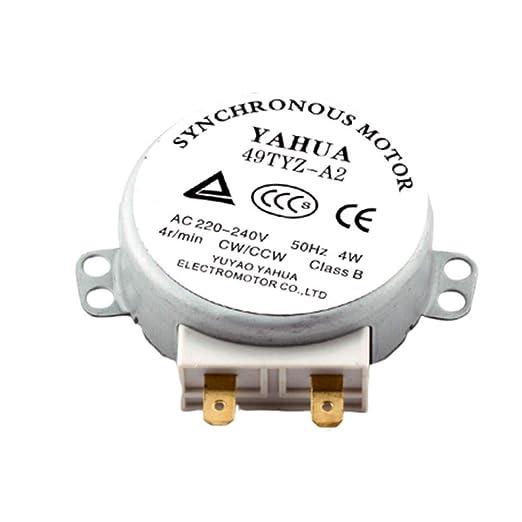 remote.S Motor De Metal 49TYZ-A2 AC 220-240V CW/CCW 4W 4 RPM ...