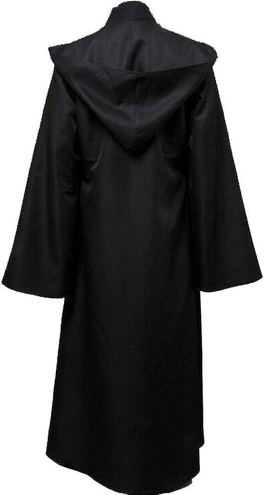 Cosplaysky Men's Cloak for Jedi Robe Costume Halloween Tunic Hooded Uniform: Clothing