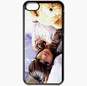 Personalized iPhone 5C Cell phone Case/Cover Skin Asian Bed Soft Toys Brunette Black
