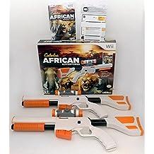 Wii/Wii-U Cabela's African Adventures Game w/Top Shot Elite Set 2-GUN BUNDLE