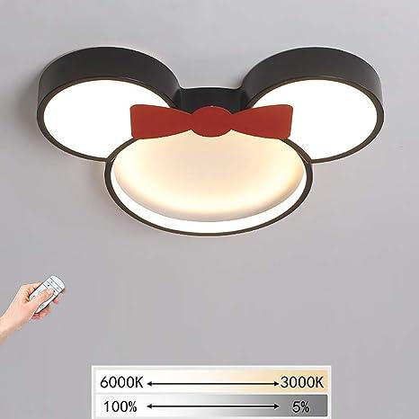 Lámparas de techo LED lámpara de techo de Mickey Mouse ...