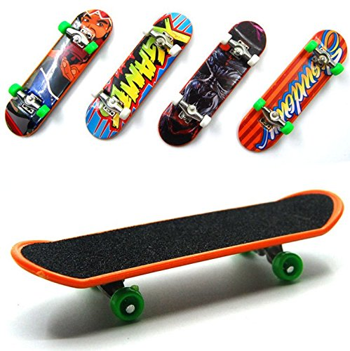 BeautyMood 5 pcs Professional Mini Fingerboards/ Finger Skateboard, Unique matte surface (Random Pattern) ()