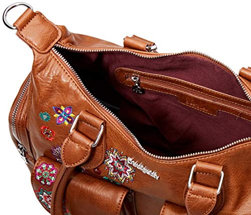 Desigual Bag Rep NANIT London Marron, Borsa a Cartella Donna, Nero, Taglia unica