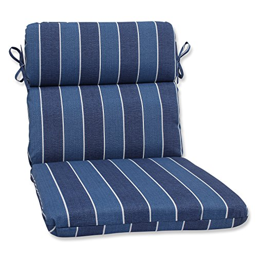 Pillow Perfect Outdoor Wickenburg Rounded Corners Chair Cushion, Indigo