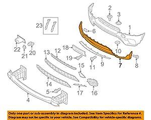 GENUINE BMW Bumper Cover Trim Panel (Casing) (Black Plastic) 51117222371