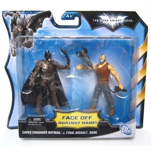 Caped Crusader Batman vs. Final Assault Bane The Dark Knight Rises Action Figure 2-Pack