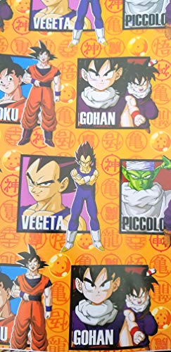 Dragon Ball Wrapping Wrap Paper Party Boy Hero Gift Decoration Asian 19.5 in x 27.5 inch per Sheet- Pack with 2 Sheets