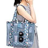 The Virgo Printed Large Mesh Beach Bag Lightweight Toy Tote Handbag Maket Grocery Picnic Tote with Oversized Pocket