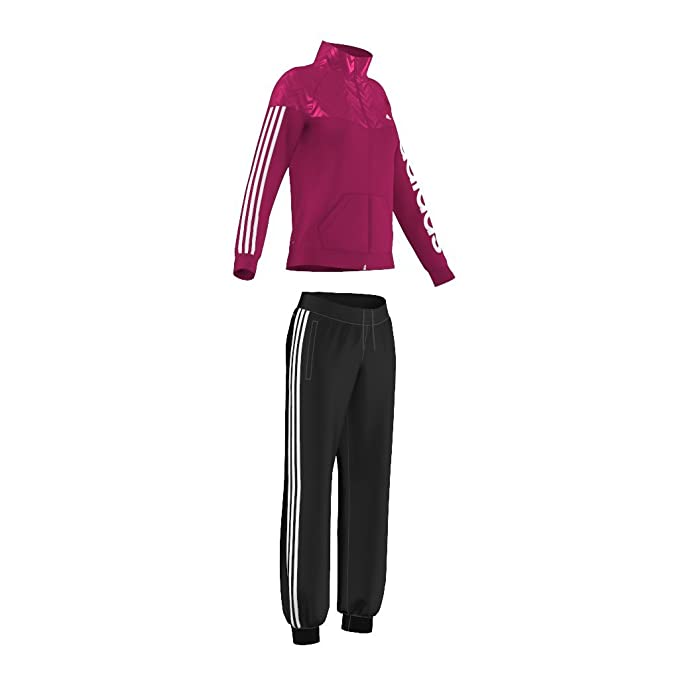 adidas Young Image Suit - Chándal para mujer, color rosa/blanco ...