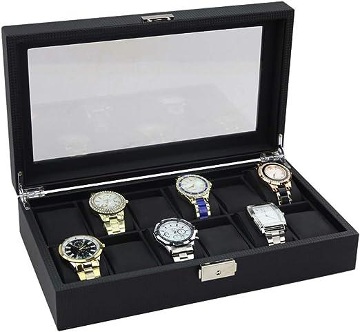 Cajas de joyería DJSSH Caja de reloj de cristal de la tapa 12 de ...