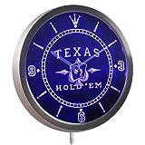 ADVPRO nc0458-b Texas Hold'em Poker Casino Neon Sign LED Wall Clock