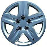 16 chrome hubcaps impala - Set of 4 Chrome 16 Inch 5 Spoke Replica of Impala Hubcaps with Metal Clip Retention System - Aftermarket: IWC431/16C