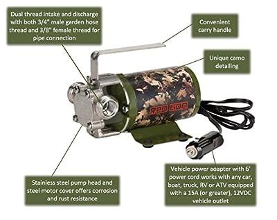 Red Lion MPFV12CAMO Camouflage Multi-Purpose Pump, 300 GPH, 12V