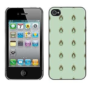 ZECASE Funda Carcasa Tapa Case Cover Para Apple iPhone 4 / 4S No.0000180