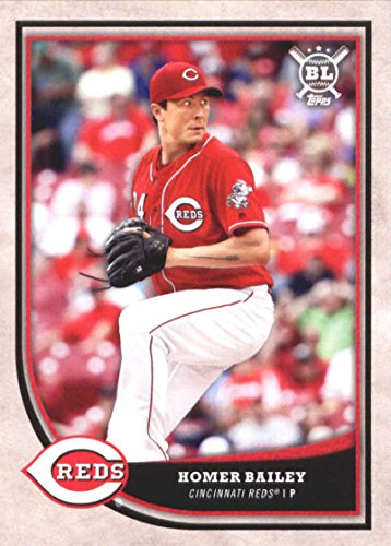 2018 Topps Big League #298 Homer Bailey Cincinnati Reds Baseball Card - GOTBASEBALLCARDS