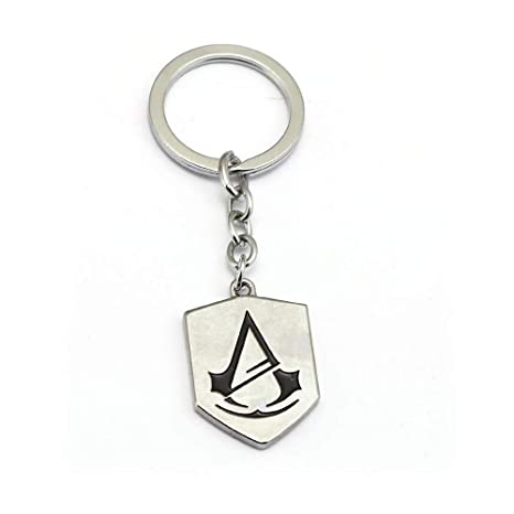 Amazon.com: Mct12 - Assassins Creed Keychain Silver Alloy ...