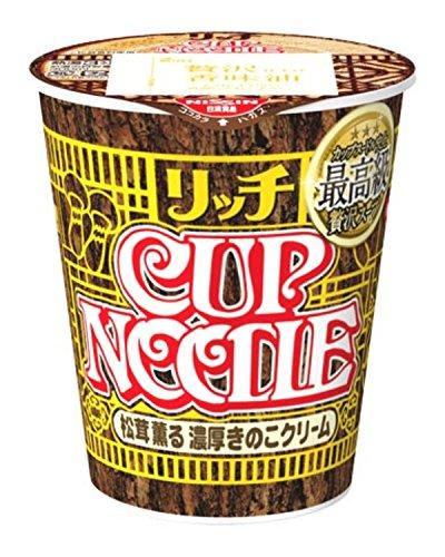 Matsutake Mushrooms (Cup Noodles RICH Matsutake mashroom & strong cream limited 89g×12)