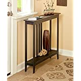 The Lakeside Collection Slim Space-Saving Tables - Antiqued Black