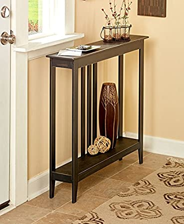 space saving. The Lakeside Collection Slim Space-Saving Accent Table (Antiqued Black) Space Saving