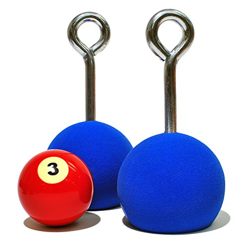 Pull up Ball Grips, 3 Inch Diamter, Red, Seamless, Bubble Free Grip Area