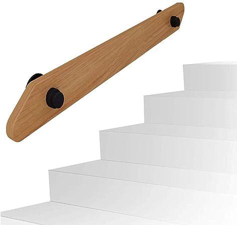 JIAW Barandillas de Escalera de Seguridad Barandilla de barandilla Estilo Europeo Soporte de barandilla, barandilla de Escalera de Madera Maciza Segura para Interiores,7ft: Amazon.es: Hogar