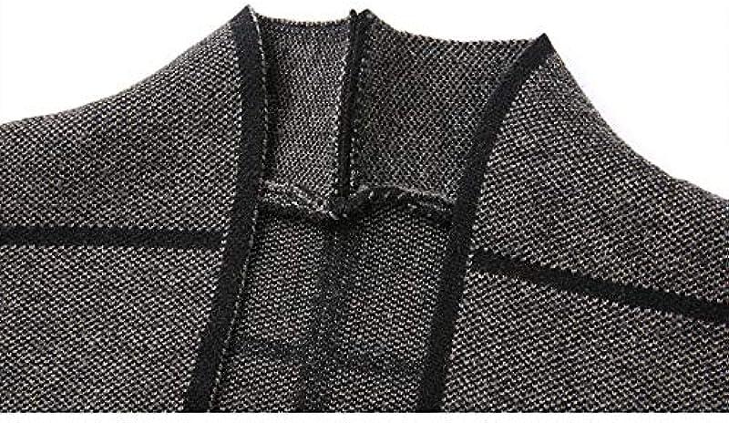 N\P Męskie Langarm Strickpullover Dicke Wärme Einfarbig Cardigan Mittelalter Męskie Jacke: Odzież