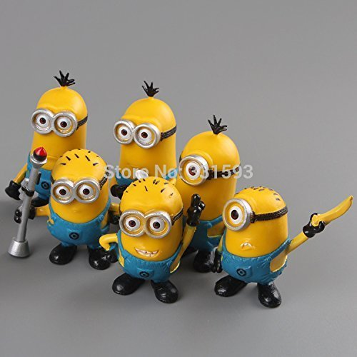 10 Pcs/lot Anime Cartoon Despicable Me Figures 3d Eye Minions PVC Action Figure Toys Dolls Toys Gift Baby Collection 5-9 Cm.