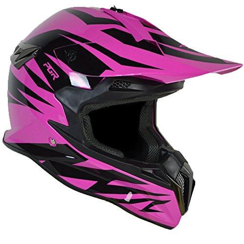 PGR SX22 SLASH Adult MX Motocross ATV Dirt Bike Quads Rackus Enduro Downhill DOT Helmet Boosted Board Evo board Electric Skateboard Electric scooter (Medium, Neon Pink (Quad Dots)