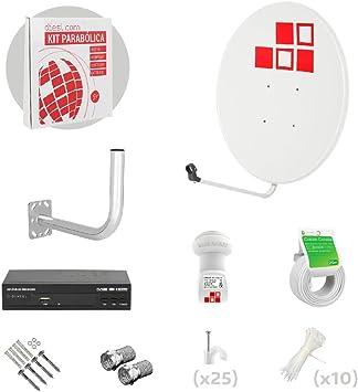 Diesl.com - Kit Antena parabolica de 80cm Television satelite ...