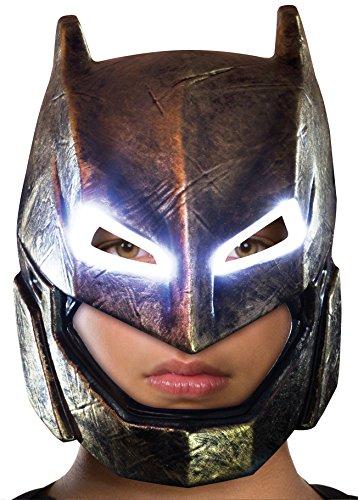 Rubie's Batman v Superman: Dawn of Justice Kid's Armored Batman Light Up Mask ()