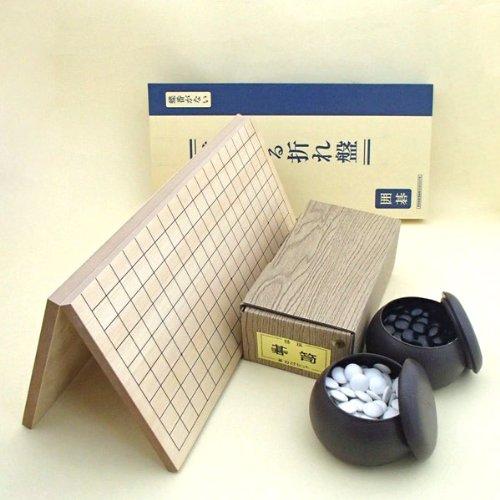 囲碁セット 棋になる折碁盤とP碁笥・碁石椿セット(碁石厚み7mm)の商品画像