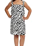 Turquoise Textile Girl's Zebra Spa Wrap (Medium (8-12 Ages))