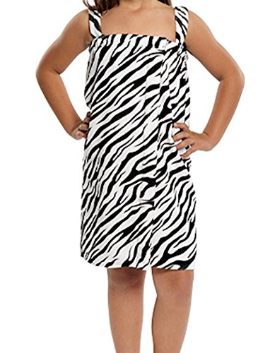 Girl's Zebra Spa Wrap (Small (4-7 Ages)) by Turquoise Textile