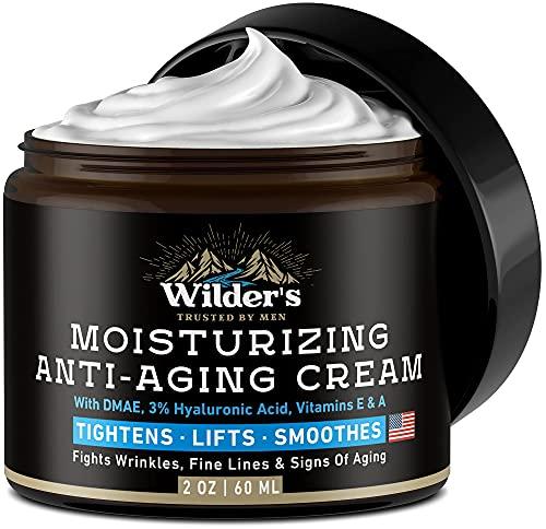 Men's Face Cream Moisturizer – Anti Aging Facial Skin Care – Made in USA – Collagen, Retinol, Hyaluronic Acid – Day…