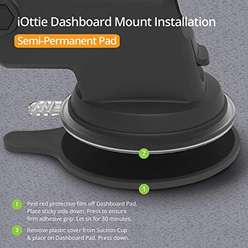 iOttie Easy One Touch 4 Dash & Windshield Car Mount Phone Holder Desk Stand Pad & Mat for iPhone, Samsung, Moto, Huawei…